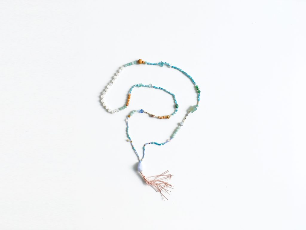 358mala bléu hand knotted in Italy by 358 ( Julia Schmitz)